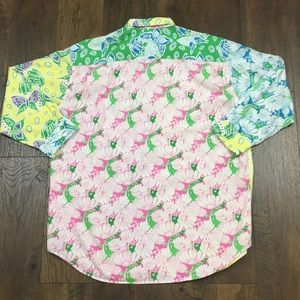 Lilly Pulitzer Tops - Lilly Pulitzer floral and butterfly button up top